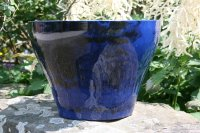 The Santorini Planter in superb glossy Midnight Blue